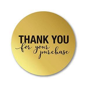 """Image 3 - 5 لفة مستديرة الذهب """"شكرا لك على الشراء"""" ملصقات ختم تسميات 500 تسميات ملصقات سكرابوكينغ ل القرطاسية ملصقا"""
