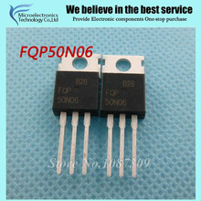 Фотография 10pcs free shipping FQP50N06 50N06 MOSFET TO-220 N-CH 60V 50A new original