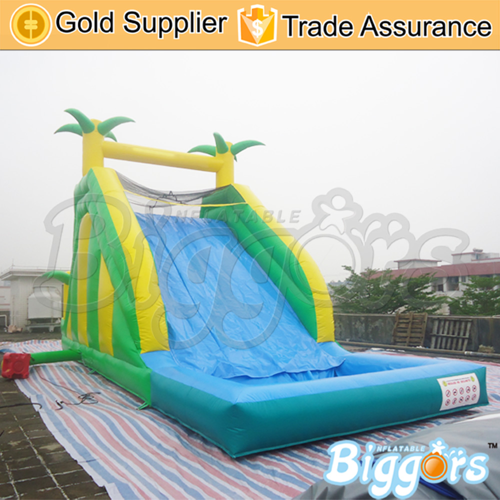 Inflatable Slide With Water Pool Inflatable Water Slide Game factory price giant big inflatable water slide with pool game on sale