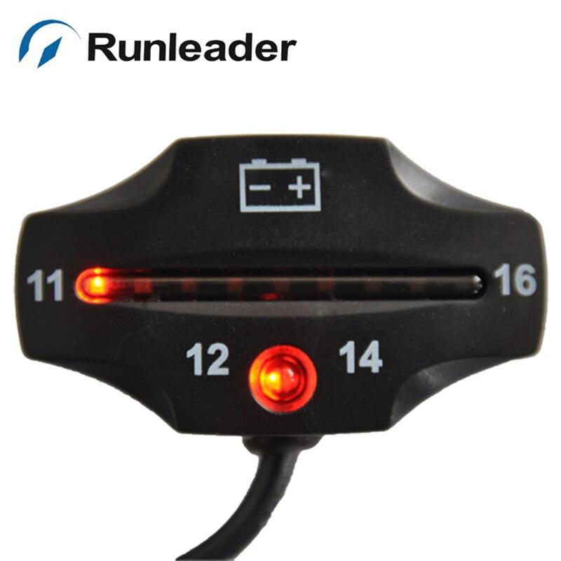 RL-BI006 индикатор заряда батареи 9 светодиодный индикатор напряжения батареи 12 В для мотовездехода мотора ATV трактора