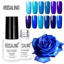 Rosalind Blue Purple Series Nail Polish Gel Long Lasting Soak Off Gel Led Uv Couleur Nai Art Gel Nail Polish Christmas Gift