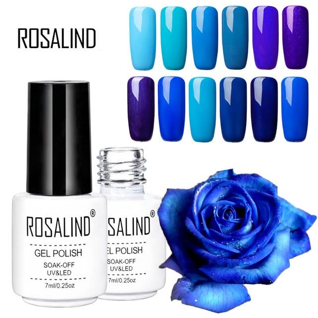 Rosalind Blue Purple Series Nail Polish Gel Long Lasting Soak Off Led Uv Couleur Nai