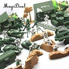 MagiDeal 1Set World War II Military Sence Building Army Men Soldiers Kit 90Pieces Combat Soldier Figure Tank Sand Bag House Toys