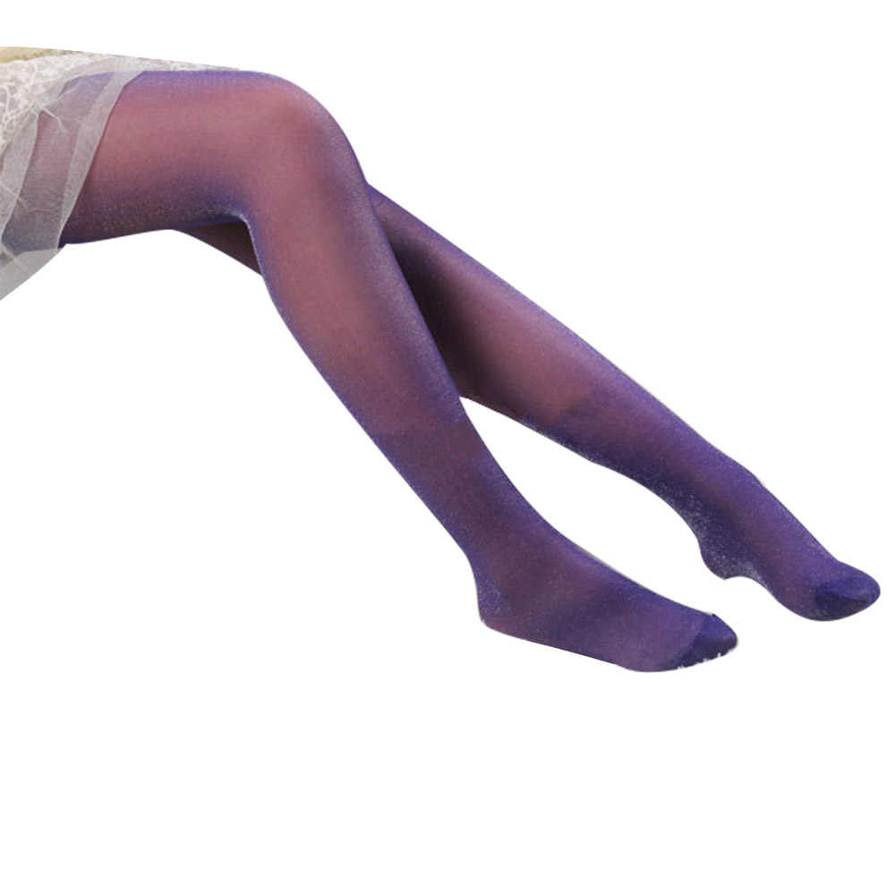 4873dba75fe ... Sexy Women Sparkly Solid Color Pantyhose Footed Tights Stretchy Long  Stockings