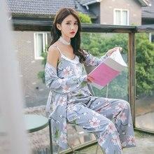 507ebad0e3 Sexy impresión Floral de algodón de maternidad de enfermería ropa de dormir  primavera lactancia pijamas para