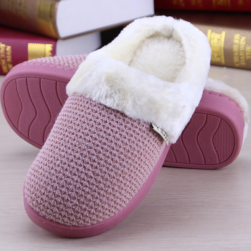 Winter woman slippers plush platform house slippers woman soft non-slip warm slippers with fur cheaper flat shoes women 2017 totoro plush slippers with leaf pantoufle femme women shoes woman house animal warm big animal woman funny adult slippers page 8