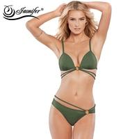 JAONIFER Women S Swimming Suit Bikini 2017 Sexy Push Up Swimwear Women Brazilian Swimsuit Beach Suit