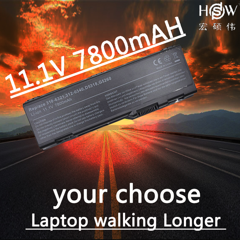 A HSW 7800 mah Substituição Da Bateria Do Portátil Para Dell Inspiron 6000 9200 9300 9400 de Precisão M6300 M90 E1705 XPS Gen 2 XPS M170 M1710