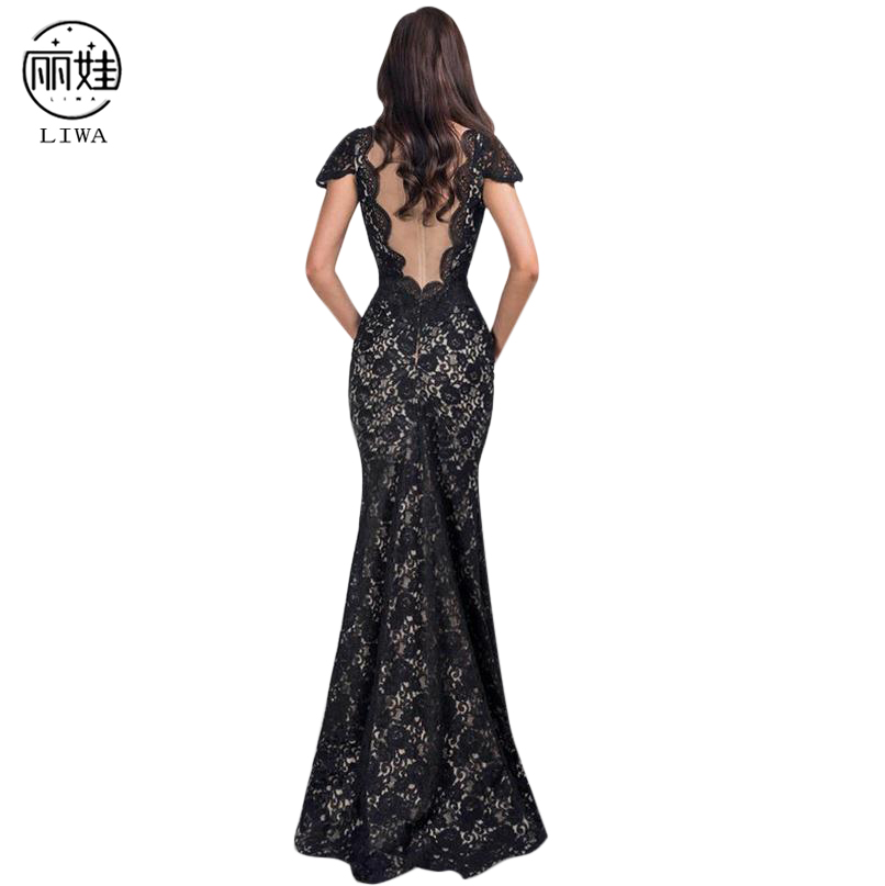 Sexy V-neck Floor Length Lace Evening Dresses Gowns 2016 New Elegant Gece Elbisesi Long Embroidery Banquet Luxury Dress CK96