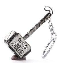Fashion movie jewelry The Avengers Loki Thor Hammer Pendant Keychain 1 pcs