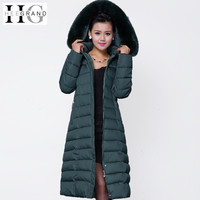 HEE GRAND Maxi Winter Coat 2018 New Casual Plus Size Winter Jacket Coat Women Thick X
