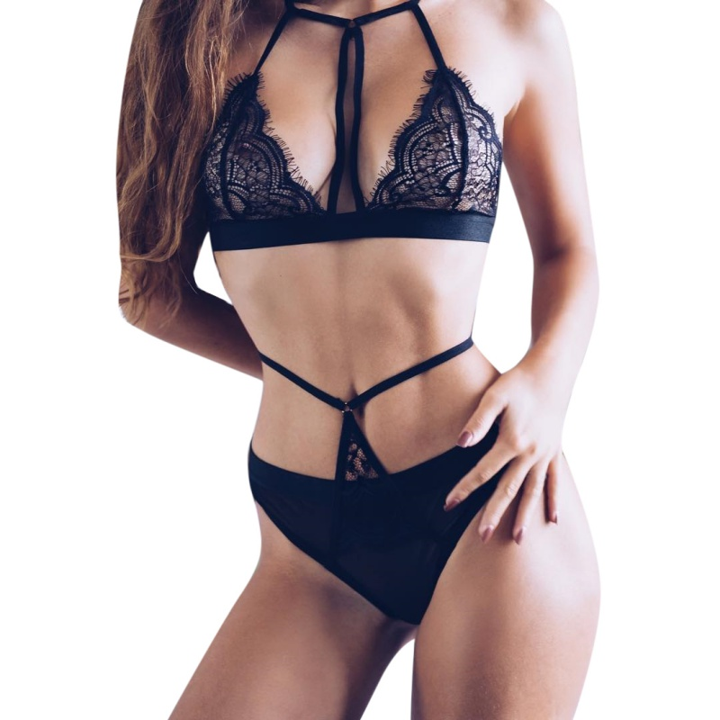 Sexy   Bra   Panty   Set   Push Up Seamless Lace Bralette Lingerie Bandage Transparent Women Female   Set   Underwear Intimates