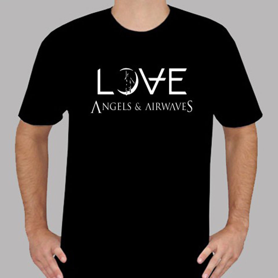 Printed T Shirts Online Mens Ava Angels And Airwaves Love Logo Rock