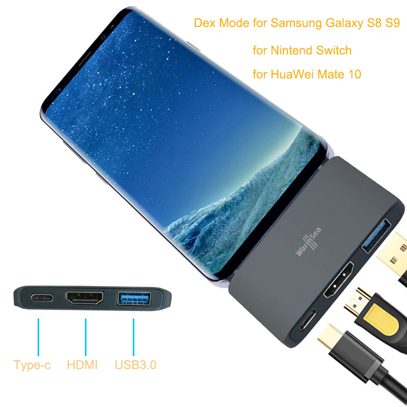 Dex Mode for Samsung Galaxy S8 S9 Nintend Switch USB Type C Hub to HDMI 4k suppo