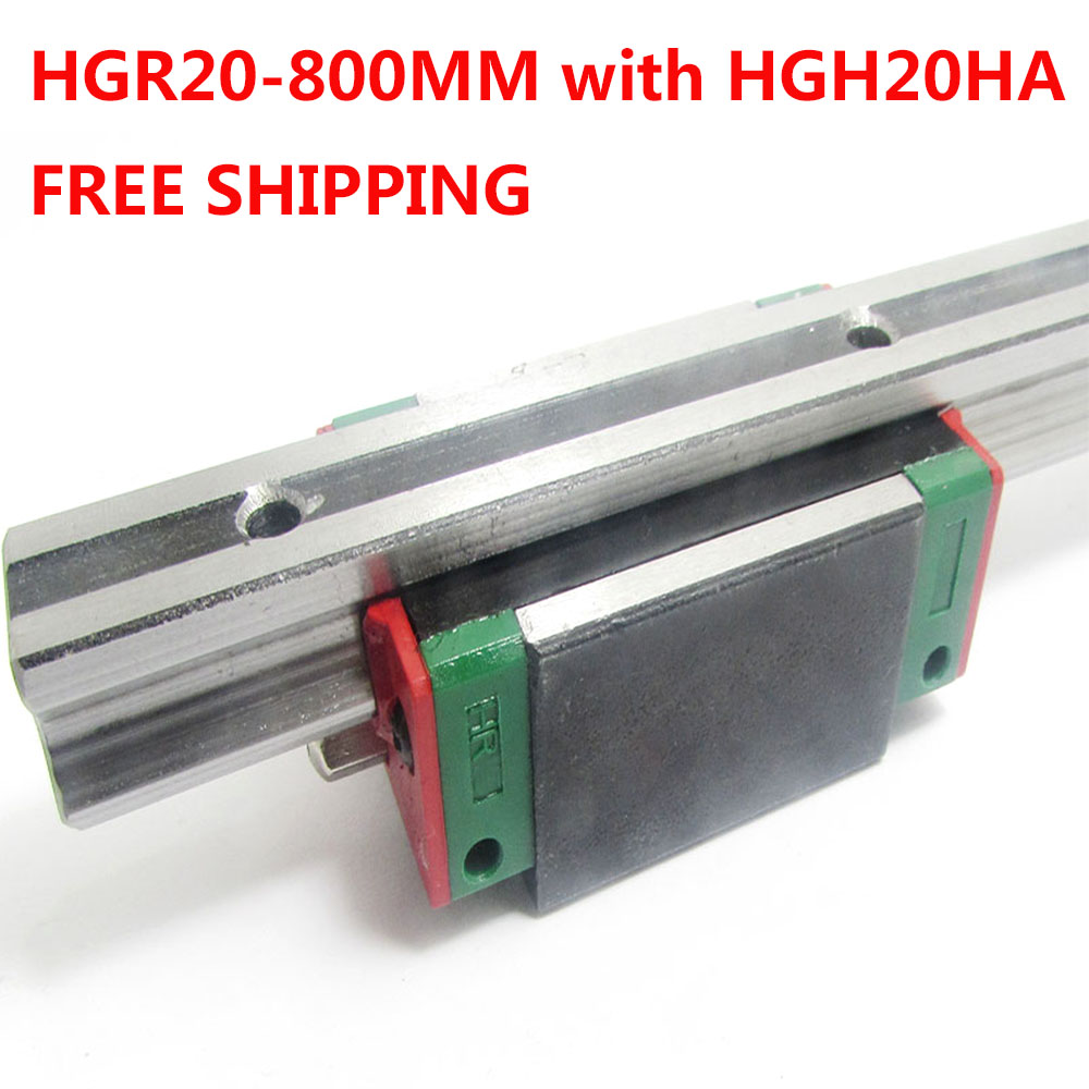 1PC free shipping HGR20 Linear Guide Width 20MM Length 800MM with 1PC HGH20HA Slider for cnc xyz axis large format printer spare parts wit color mutoh lecai locor xenons block slider qeh20ca linear guide slider 1pc