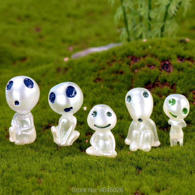 Image 5 - 5pcs Princess Mononoke Luminous Studio Ghibli Resin Action Figure Kodamas Glow in dark Figurines Elf Tree Dolls Model Kids Toys-in Action & Toy Figures from Toys & Hobbies
