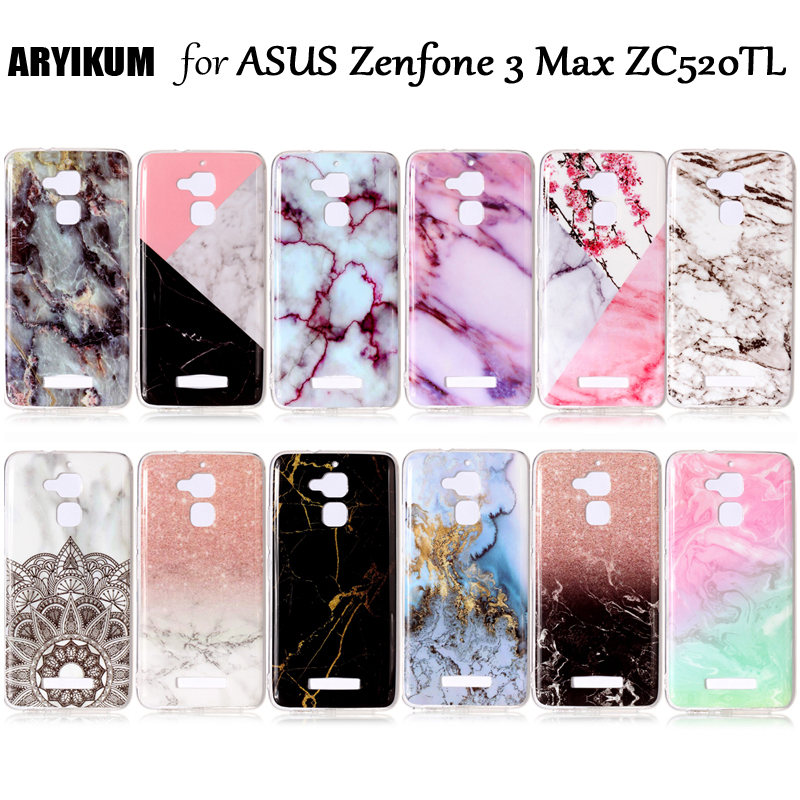 For Coque <font><b>Asus</b></font> Zenfone 3 Max <font><b>ZC520TL</b></font> 5.2 inch <font><b>Case</b></font> Soft Silicone Marble Back Cover For <font><b>Asus</b></font> Zenfone 3 Max ZC 520 TL Phone Shell image
