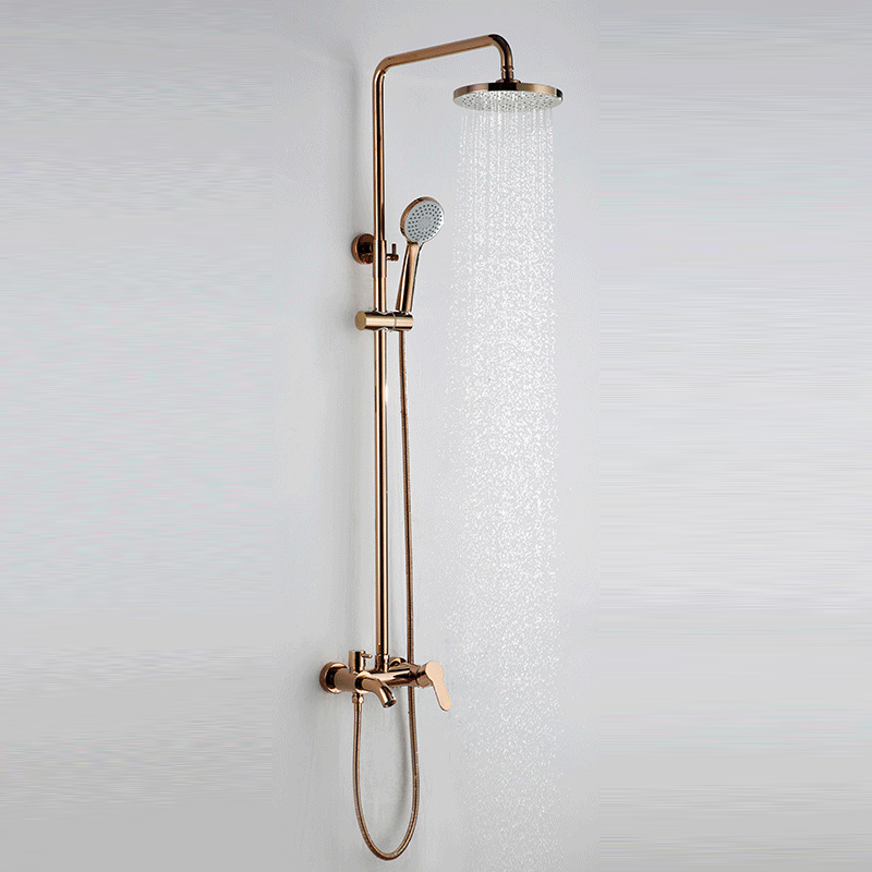 Cold And Hot Mixer Faucet Shower Tap Set Bathroom Antique Sprinkler Suit All Copper Vintage Antique Bronze Shower Faucet Bathroom Fixtures Shower Equipment