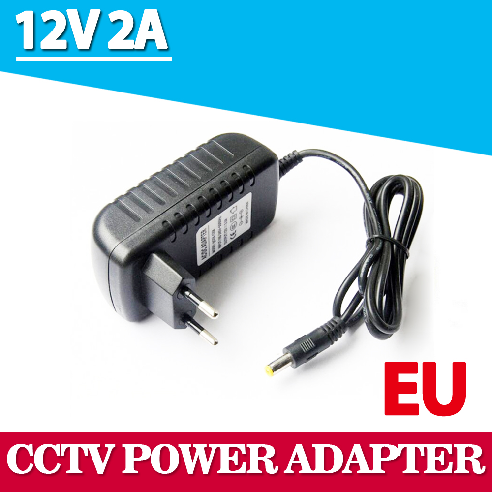 1Pcs AC 100-240V to DC 12V 2A Converter Adapter Switching Power Supply Charger For LED Strips Light EU Plug Brand New power supply adapter 12v1a dc 12v eu us uk au plug converter voltage switching transfomer charger switch adaptor high quality