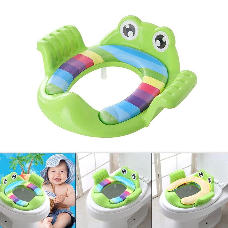 New Portable Baby Potty Training Cushion Toilet Mat Toddlers Kids Closestool Anti-slip Cartoon Seats  Cushion Pad Ring  FJ88