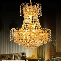 Modern 30w Led Crystal Chandelier Ceiling Fixtures Flush Mount E14 Bulbs Chandeliers AC110v 220v D45 H52cm