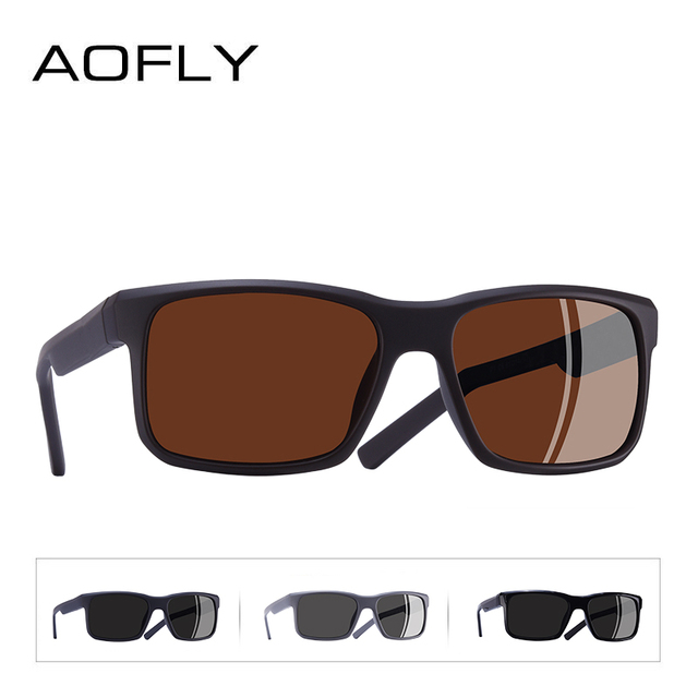 AOFLY BRAND DESIGN Cool Men Polarized Sunglasses TR90 Frame Sun Glasses Male Square Shades Googles Oculos Gafas De Sol AF8084 3