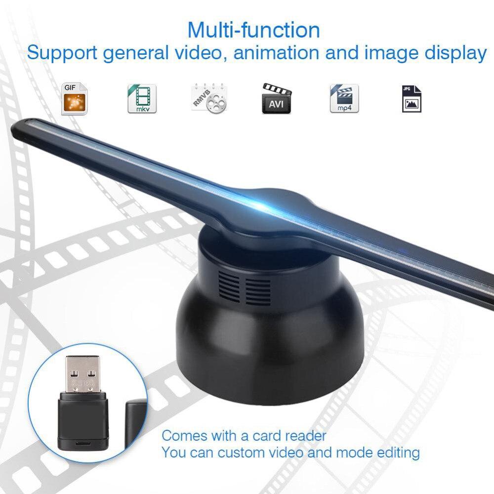 Genialny 3D Hologram reklama projektor wentylator LED holograficzny UQ22