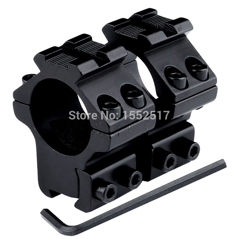 FIRE WOLF High Quality Aluminum 2pcs 25.4mm 1 Low Profile Scope Mount Rings with 11mm Dovetail Rail Mount and 20mm Top Rail