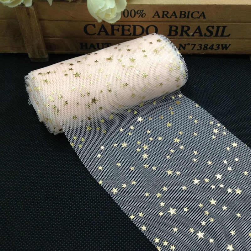 5 เมตร/ม้วน 8 เซนติเมตรกว้างเลื่อม Tulle งานแต่งงานตกแต่ง Glitter Tulle ผ้า DIY Scrapbooking Craft งานเลี้ยงวันเกิดอุปกรณ์