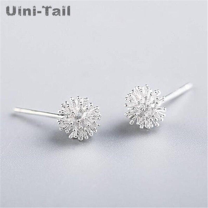 Uini-Tail hot new 925 sterling silver dandelion flower ball Christmas snowflake delicate earrings female classic simple earrings