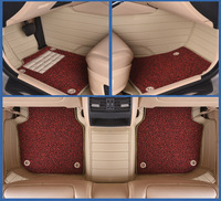 Myfmat custom foot leather CAR floor mats for VW BORA MAGOTAN BEETLE PHAETON TOUAREG TERAMOUT free shipping easy cleaning cozy