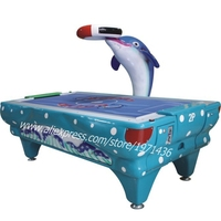 Coin Operated Amusement Arcade Game Machine Dolphin Air Hockey Table