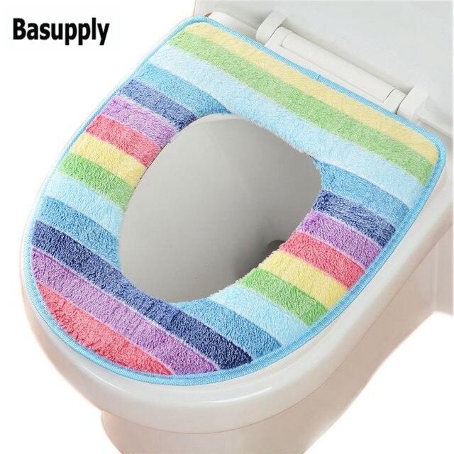 Basupply 1 Pz Arcobaleno Toilet Seat Cover Set Per Prodotti Da Bagno Lavabile Ca