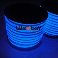 220V blue led neon bulb for night lights,holiday lighting,50m/roll, size:12*26mm,cutting length each 3ft.