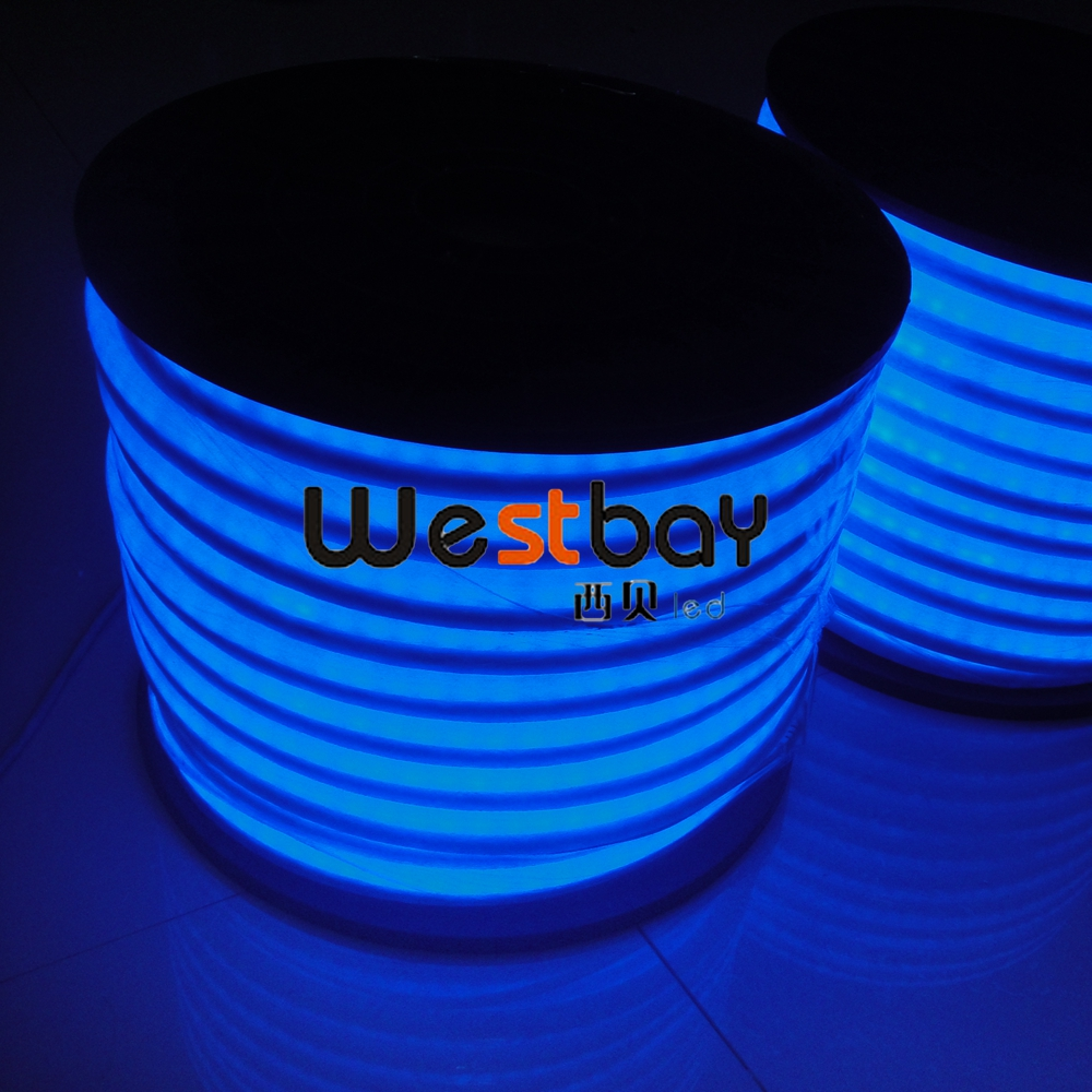220v blue led neon bulb for night lights holiday lighting 50m roll size 12 26mm cutting length. Black Bedroom Furniture Sets. Home Design Ideas