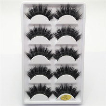 Brand new thick natural false eyelashes 3D multilayer fake eyelashe stage eye lashes lady women make up 5 pairs pack hand made
