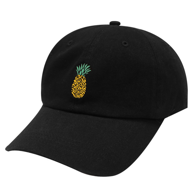 Spring Women's   Cap   Snapback 3D Pineapple Pattern Printed Hat Men's Summer   Baseball     Caps   Hip Hop Hats Casquette Homme