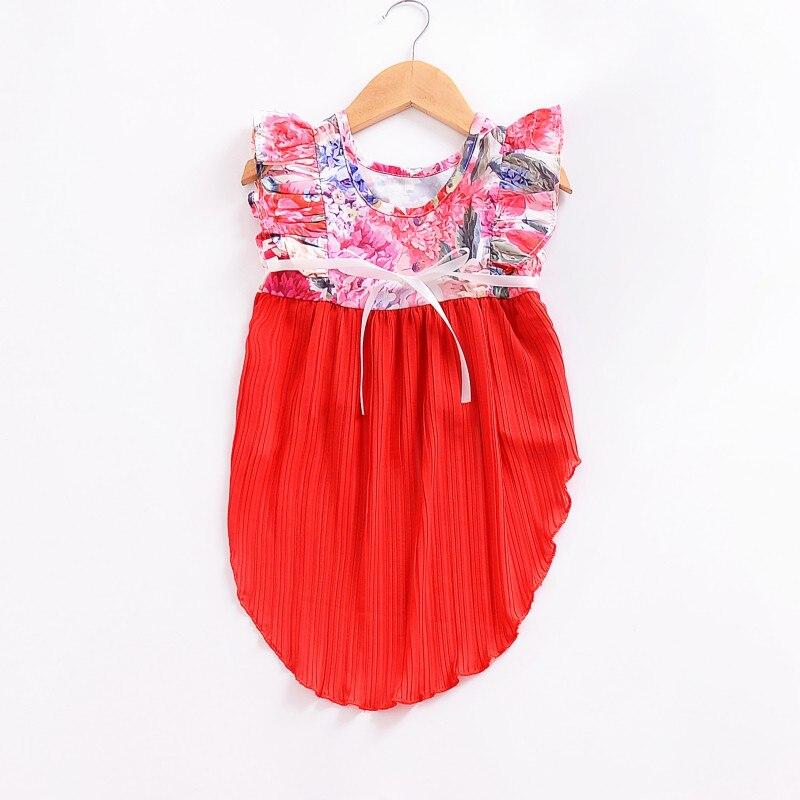 166957e9b81 2018 Παιδικά ρούχα Καλοκαιρινό φόρεμα για τα παιδιά Ροζ φόρεμα για ...