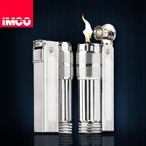 Image 2 - Original IMCO Leichter Alten Benzin Leichter Echtem Edelstahl Zigarette Leichter Zigarre Feuer Brikett Tabak Benzin Feuerzeuge