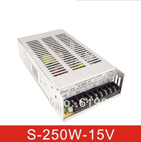 250W 15V Single Output Switching power supply for  FSDY  AC to DC led