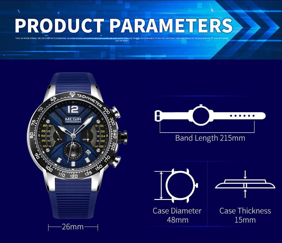 cronógrafo quartzo militar relógio de luxo da