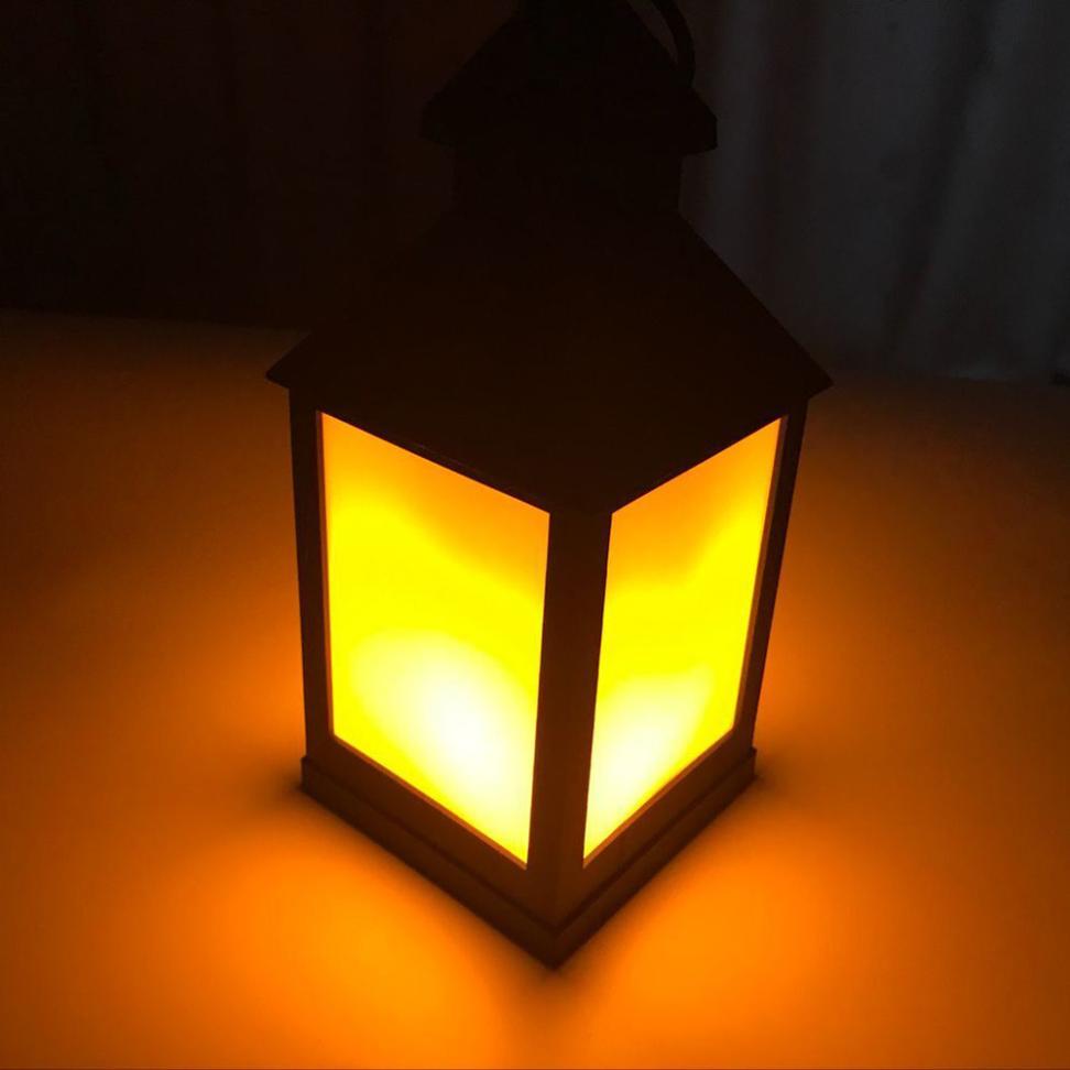 MUQGEW Waterproof Outdoor Hanging LED Light Flickering Lamp Garden ...