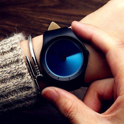 2019 Genuine Leather Waterproof Future New Concept Color Watch Tide Men Tide Women Fashion Table Wild Belt Quartz Watch Gift