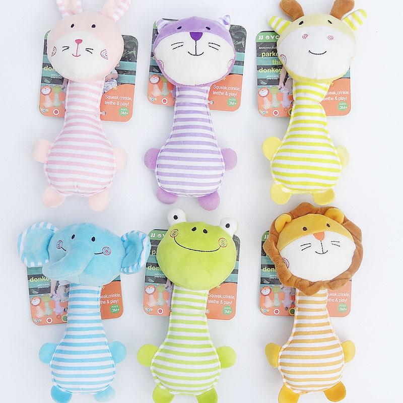 Mehke otroške zajčje ropotulje igrače glasba polnjene ročke za - Igrače za dojenčke in malčke