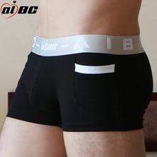 AIBC 3 Pcs/Lot Sexy Men Boxer Underwear Soft Boxers Cotton BMen Solid Boxer Shorts  Boxers Mens Underwear