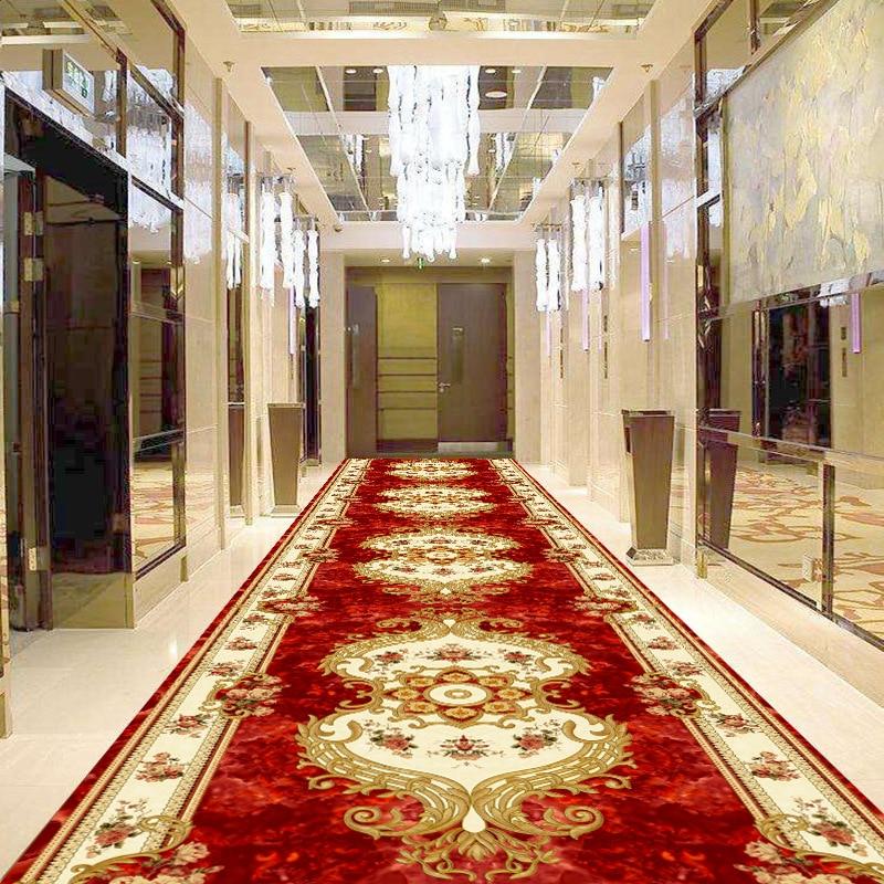 3D Printing European Corridor Carpet Living Room Bedroom Carpet Bathroom Anti-slip Mat Porch Entrance Hallway Door Mat Hotel Rug
