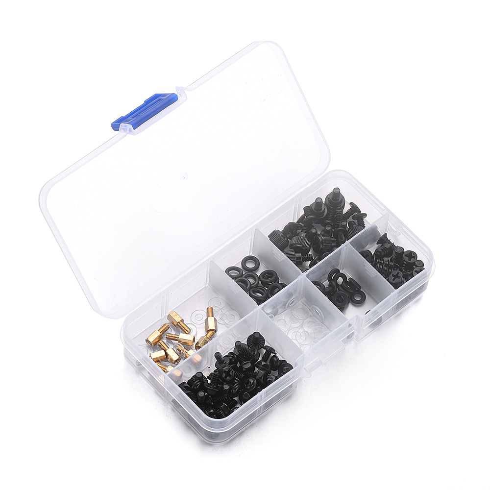 New Arrival 178PCS/Set iron material Pan Screw Assortment Set 10 types with a storage case Desktop Computer DIY Screw Set green plastic gold pan with two types of riffles set of 3 gold pan and one sifter