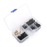 New Arrival 178PCS Set Iron Material Pan Screw Assortment Set 10 Types With A Storage Case
