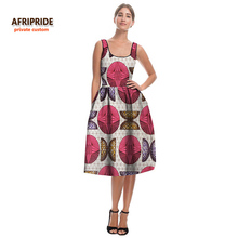 2017 summer AFRIPRIDE Private Custom new midi dress for font b women b font loose sleeveless