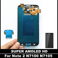 100 Tested Working AMOLED LCD For Samsung Galaxy Note2 Note 2 N7100 N7105 T889 I317 Phone